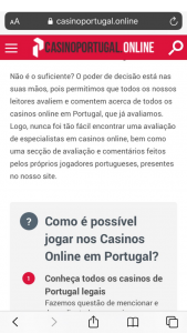 casinoportugal.online mobile version