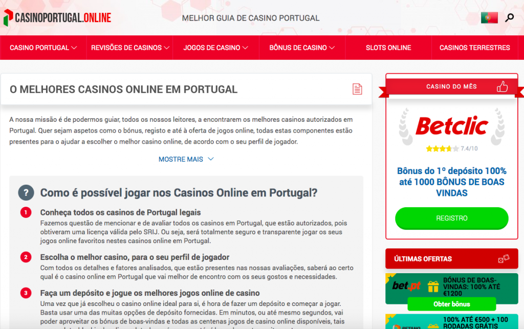 casinoportugal.online pc version