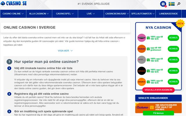 cvasino.se - home page