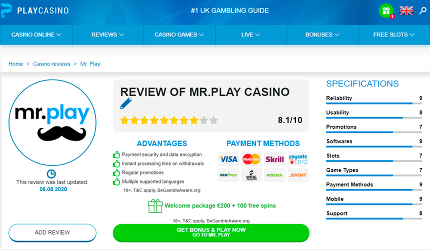casino review page - play.casino